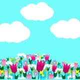 kwitnie niebo wiosna Obrazy Royalty Free