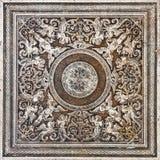 Kwitnie ornamentacyjnej rocznik płytki trawertynu marmuru klasyczną teksturę Fotografia Stock
