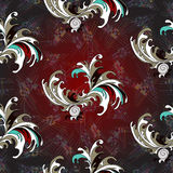 Kwitnie płatka abstrakcjonistycznego wektorowego bezszwowego wzór dla tło iluminującej tapety Zdjęcia Royalty Free