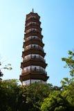 Kwitnie pagodę świątynia Sześć Banyan drzew Obraz Stock
