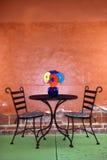 kwitnie papierowego stół Obraz Royalty Free