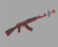 kwitnie pistolet ilustracja wektor