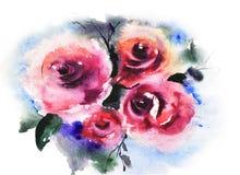 kwitnie róże ilustracji