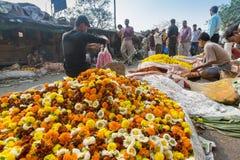 Kwitnie rynek Kolkata, Zachodni Bengalia, India Obrazy Stock