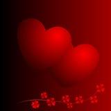 kwitnie serca dwa Fotografia Stock