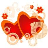 kwitnie serca dwa ilustracja wektor