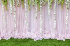 Kwitnie tło tło w ślubnej ceremonii Zdjęcie Stock