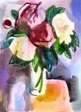 kwitnie wazę royalty ilustracja