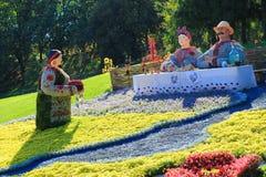Kwitnie wystawę w Kijów, dedykującym jedność i pokój w Ukraina Zdjęcia Stock