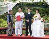 Kwon ha cantato corteggia e Che Yong Li Immagine Stock Libera da Diritti