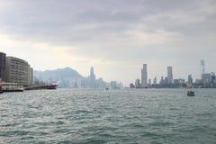 kwun钳子维多利亚港口对北角的 免版税库存图片