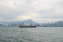 kwun钳子维多利亚港口对北角的 图库摄影