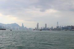 kwun钳子维多利亚港口对北角的 免版税库存照片