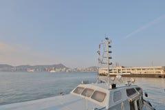 kwun钳子维多利亚港对北角的 免版税库存照片
