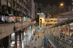 Kwun tong raod at night Royalty Free Stock Photo