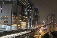 Kwun tong raod at night Stock Images