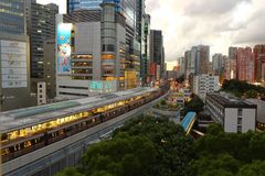 Kwun Tong Station, Hong Kong Stockbilder