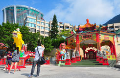 Kwun yam shrine, hong kong Royalty Free Stock Image