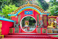 Kwun Yam Shrine temple, a Taoist shrine at the southeastern end of Repulse Bay, Hong Kong Island Royalty Free Stock Images