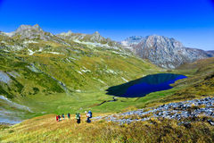 Kyafar bergsjö, Kaukasus, Ryssland Arkivbilder