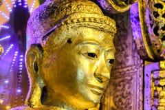 Kyaik Polor или Kyaik приполюсный Будда, конец до стороны, Мьянмы Стоковое фото RF