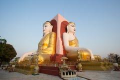 Kyaik Pun Buddha Images. Kyaik Pun Pagoda, Pagoda of four giant Buddha statues (Bago, Myanmar Royalty Free Stock Photos