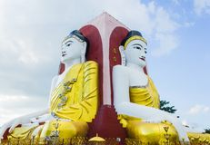 Kyaik pun pagoda, Bago, Myanmar. The tourist attraction at Bago, Myanmar stock image