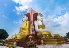 Kyaik Pun pagoda of big four Buddha statues in Bago , Myanmar. Royalty Free Stock Photography