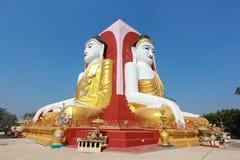 Kyaik pun pagoda myanmar. There are four buddha image sit 4 sideat Kyaik pun pagoda myanmar Stock Photography