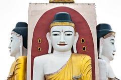 Kyaik Pun Paya, Bago, Myanmar. Kyaik Pun Paya, with four giant sitting buddha, Bago, Myanmar Stock Image