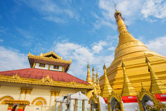 Kyaik Tan Lan The Old Moulmein pagoda. This pagoda is the highest structure in Mawlamyine ,Myanmar Stock Photography