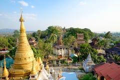 Kyaik Tan Lan Pagoda Fotografia Stock Libera da Diritti
