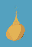 Kyaikhtiyo, Golden Rock, Myanmar Royalty Free Stock Photography