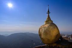 Kyaikhtiyo pagoda, Myanmar Zdjęcie Royalty Free