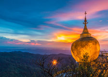 Kyaikhtiyo pagoda in Myanmar Stock Photos