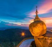 Kyaikhtiyo pagoda in Myanmar Royalty Free Stock Image