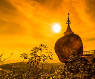 Kyaikhtiyo pagoda in Myanmar Royalty Free Stock Photo