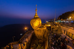 Kyaikhtiyo Pagoda (Golden Rock), Myanmar. Royalty Free Stock Photography