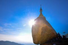 Kyaikhtiyo-Pagode, Myanmar Stockfoto