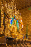 Kyaikhto, το Μιανμάρ - 22 Φεβρουαρίου 2014: Εικόνα του Βούδα Kyaikpawlaw στοκ φωτογραφίες
