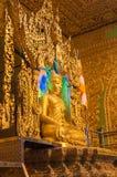 Kyaikhto, Myanmar - 22 février 2014 : Image de Kyaikpawlaw Bouddha photos stock