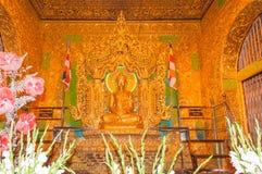 Kyaikhto, Myanmar - 22 febbraio 2014: Immagine di Kyaikpawlaw Buddha Immagine Stock