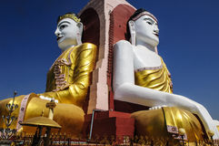 Kyaikpun Buddha  , Bago, burma Royalty Free Stock Photo
