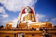 Kyaikpun pagoda - cztery sadzali Buddha, siedzi Zdjęcia Stock