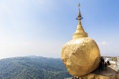 Kyaiktiyo pagoda. With clear blue sky Stock Images