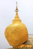 Kyaiktiyo Pagoda Or Golden Rock, Myanmar Stock Photo