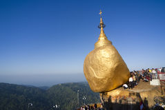 Kyaiktiyo Pagoda or Golden Rock Pagoda Stock Photo