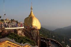 Kyaiktiyo pagoda in Myanmar. Stock Images