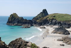 Kyanace Cove, Lizard, Cornwall. A view of Kynance Cove in summer Royalty Free Stock Images
