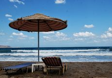 Kyani Akti strand, Kreta, Grekland Royaltyfri Foto